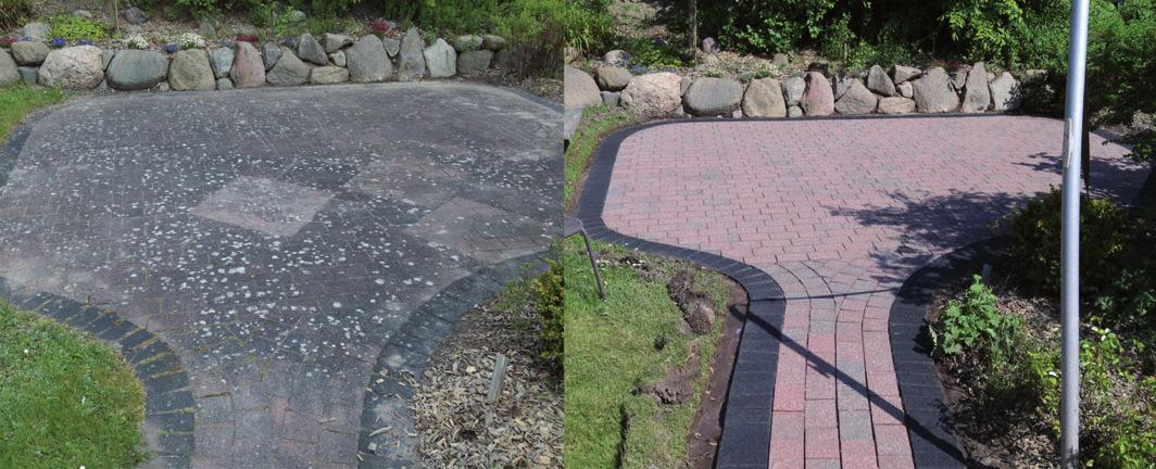 Vor und nach einer Reinigung durch Stone Clean