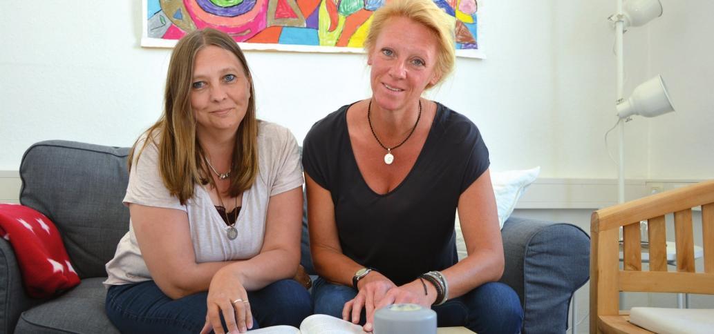 Leena Molander und Dörthe Bräuner helfen Familien, in denen ein Elternteil an Krebs erkrankt ist