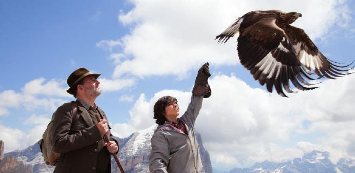 Ein Adler ist der Star