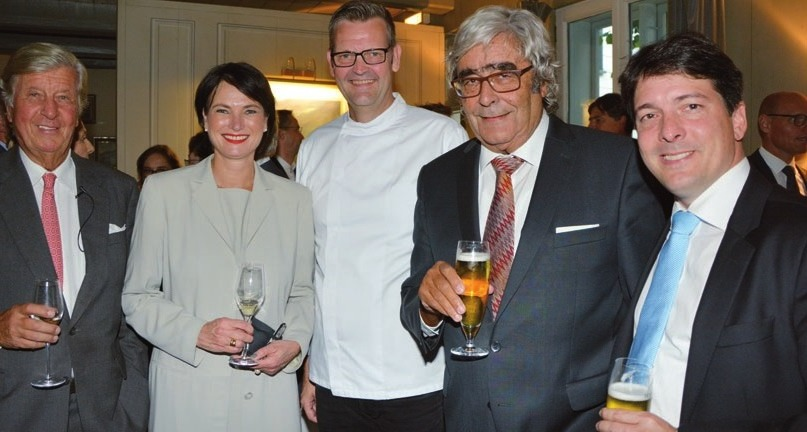 ... mit Direktorin Judith Fuchs-Eckhoff, Thomas Martin, Dieter und Berndhard Schwanke