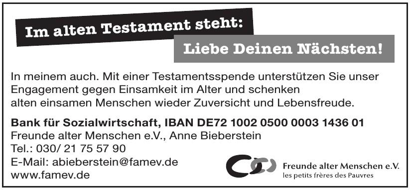 Freunde alter Menschen e.V., Anne Bieberstein