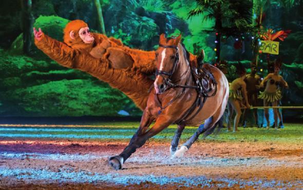 Akrobatische Reitkünste bei der Apassionata-Show, OTO: © APASSIONATA
