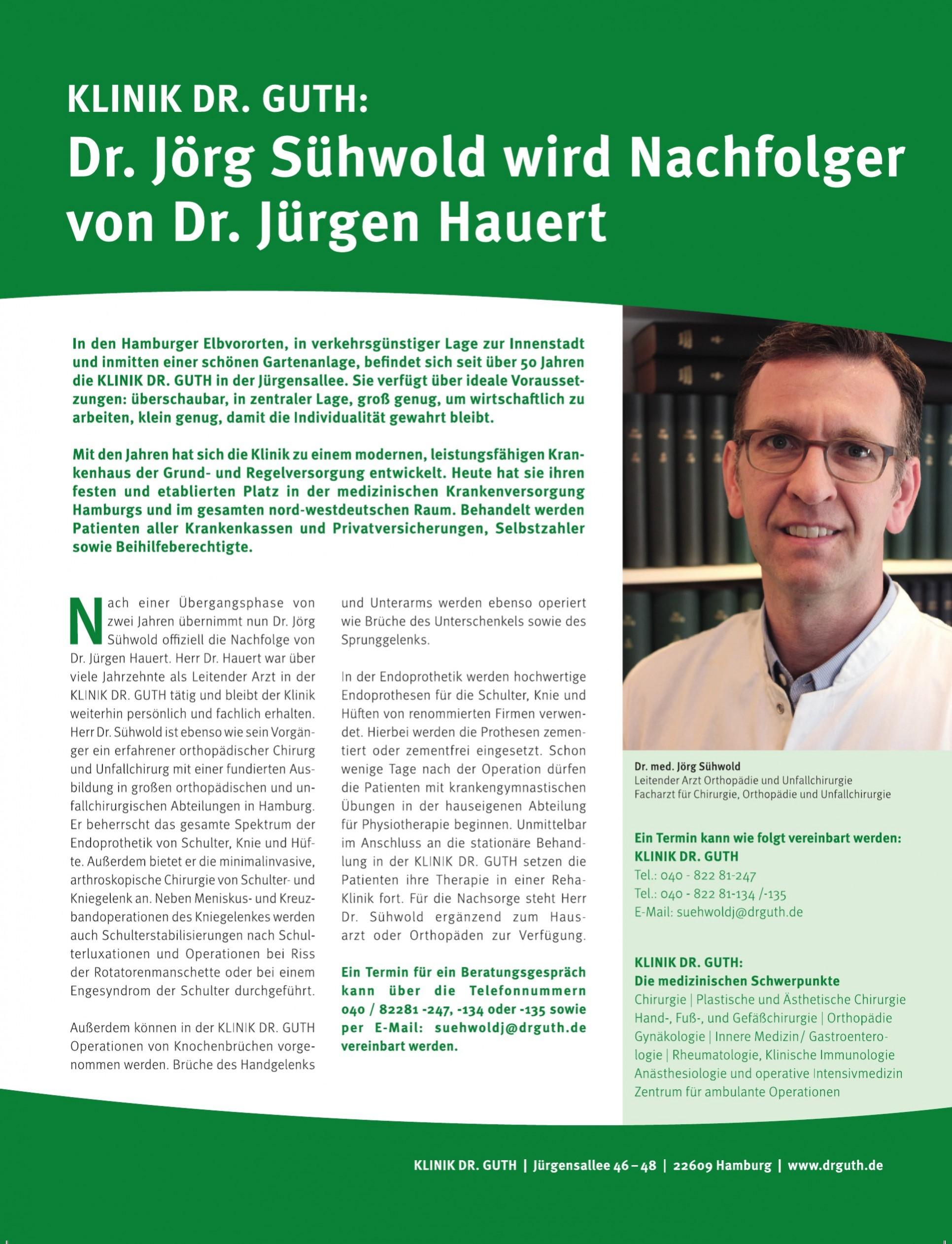 Klinik Dr. Guth der Klinikgruppe Dr. Guth