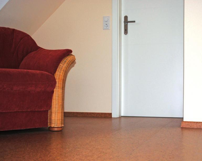 Kork eignet sich sehr gut als Fußbodenbelag
