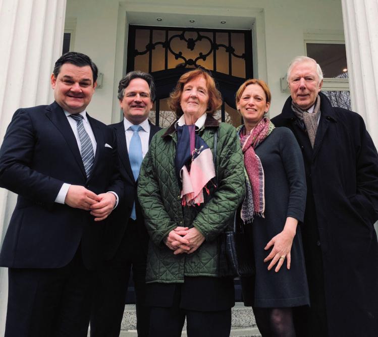 Marcus Weinberg, Dr. Philipp-Christian Wachs, Birgit Breuel, Karin Prien und Ehemann Ernst Breuel
