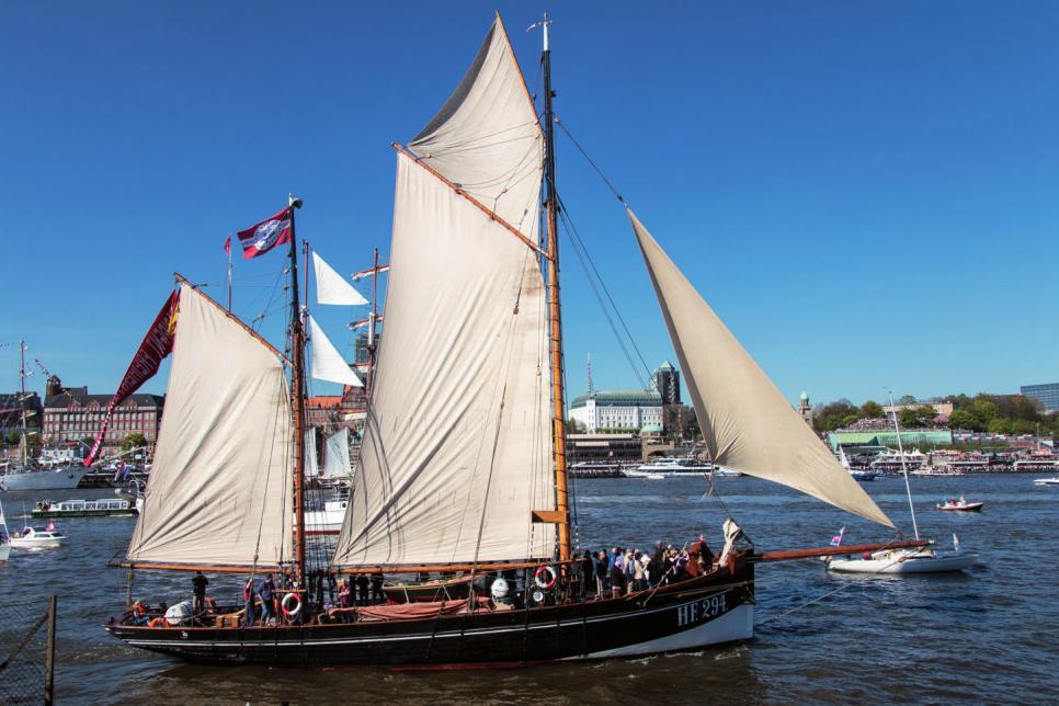 Der segelnde Hochseekutter Präsident Freiherr von Maltzahn wurde 1928 bei der Sietas-Werft gebaut.FOTO: MARK MICHAELIS – CC BY 2.0