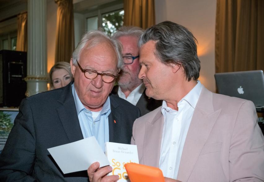 Reinhard Bochem stiftete den 1. Preis – Gold, Silber und Kupfer, Edmund Bahr (links) gewann Kupfer