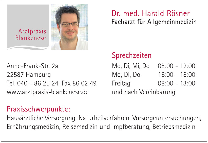 Dr. med. Harald Rösner Facharzt für Allgemeinmedizin