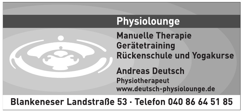 Physiolounge Manuelle Therapie