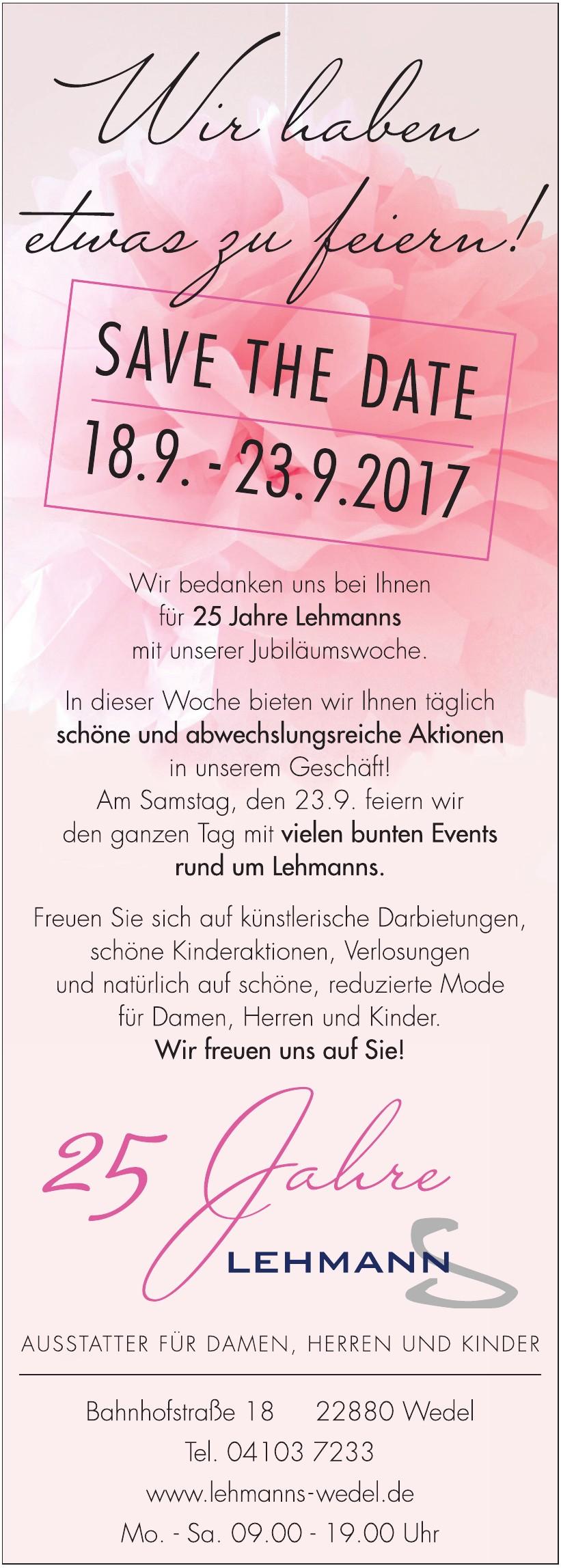 25 Jahre Lehmanns