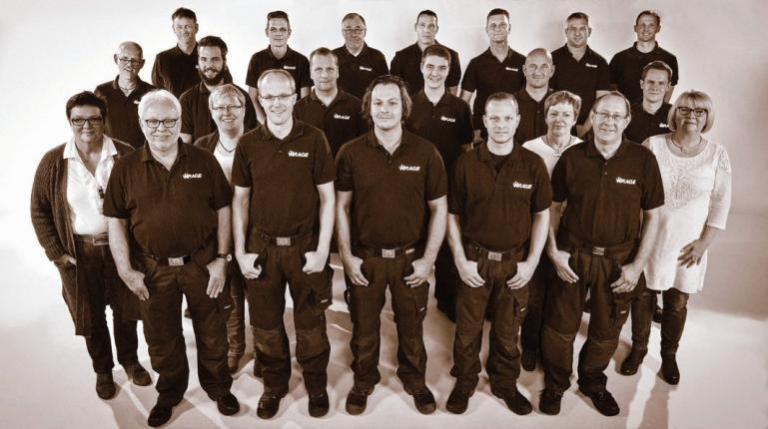 Das Team gesamte Team von Wrage FOTO: ©JENKINS FOTOGRAFIE