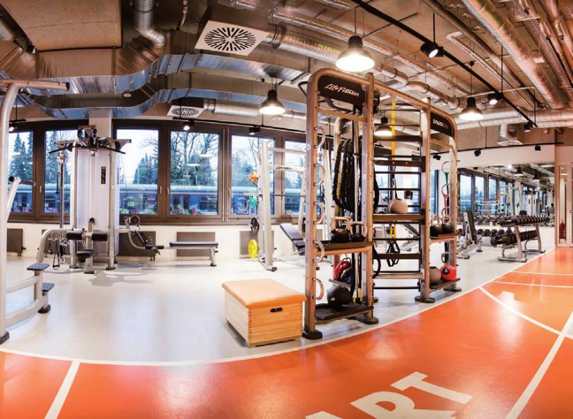 Fitness-Studio für Mitarbeiter bei ECE