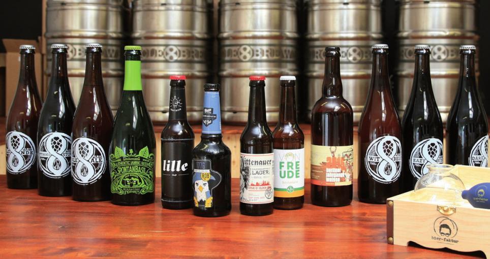 Craft-Biere aus kleinen Brauereien werden immer beliebter
