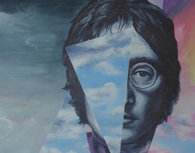 John Lennon, gemalt von Nora Twest
