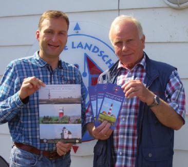 Matthias Bunzel (Geschäftsstellenleiter der Maritimen Landschaft Unterelbe) und Helge Staack (IG Seezeichen)