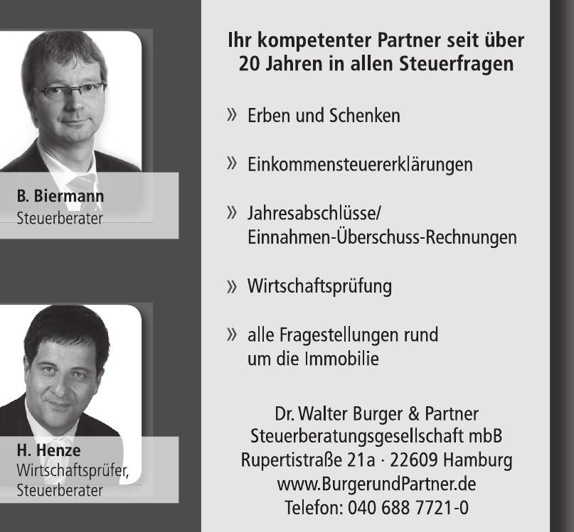 Dr. Walter Burger & Partner - Steuerberatungsgesellschaft mbB
