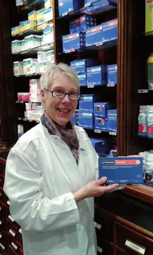 Zur Stärkung der Abwehrkräfte empfiehlt Apothekerin Gaby Holm Orthomol-Immun