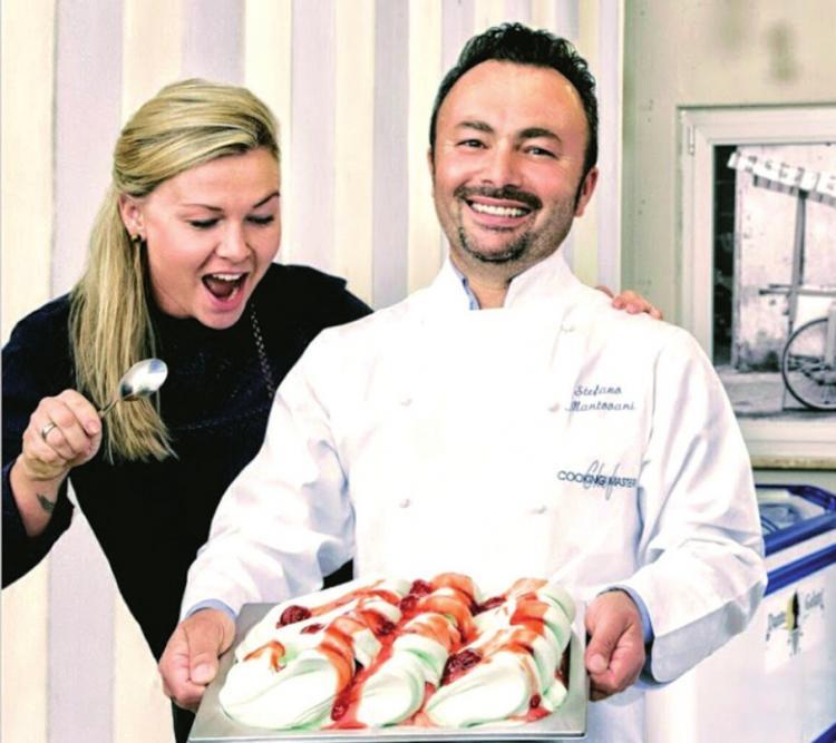 Stefano Mantovani und seine Frau Natalia haben im letzten Jahr das Eiscafé Dante übernommen