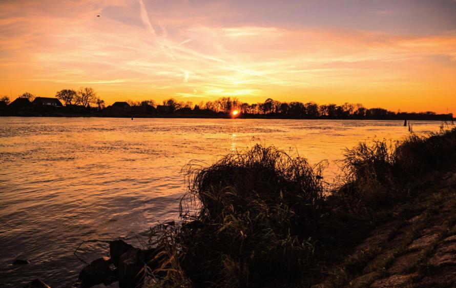 Die herbstliche Elbe vor LauenburgFOTO: DOROTHEE MEYER