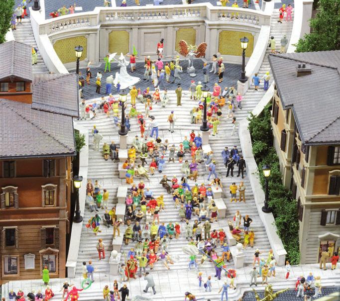 Neben Rom und der Spanischen Treppe könnenGäste nun auch Venedig in Klein betrachten