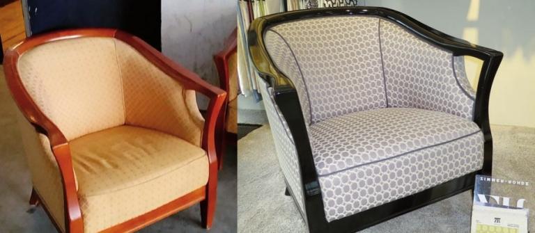 Sessel wie neu: vorher/nachher
