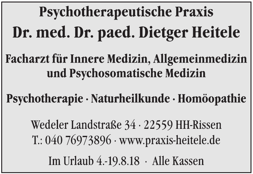 Psychotherapeutische Praxis Dr. med. Dr. paed. Dietger Heitele