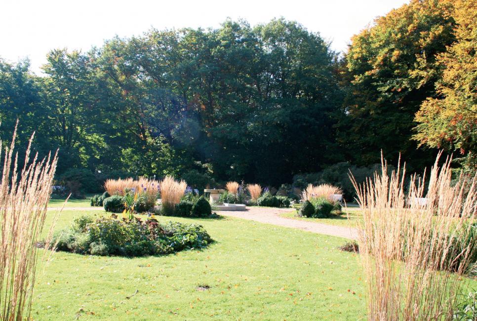 Beliebter Ruhepunkt mitten im Trubel – der Französische Garten im Hirschpark