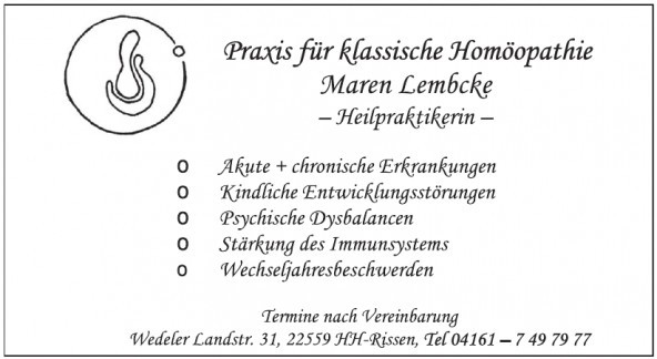 Maren Lembcke, Heilpraktikerin