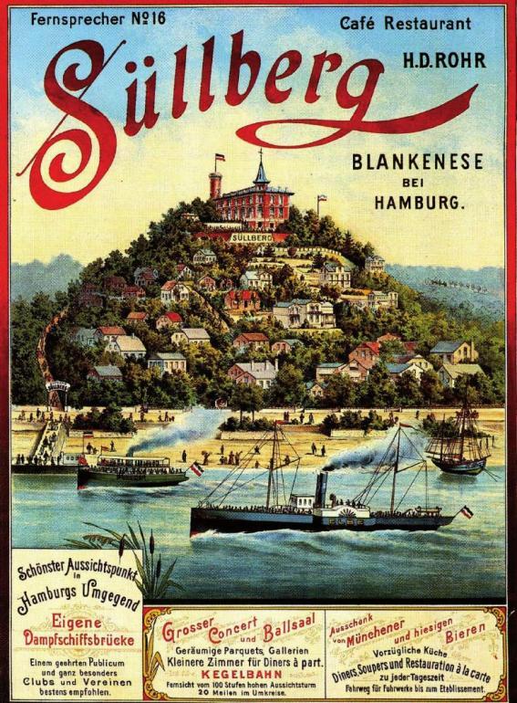 Im Kaiserreich wurde Blankenese zu einem beliebten Ausflugsziel, das mit bunten Postkarten in der breiten Bevölkerung beworben wurde FOTO: ARCHIV FÖRDERKREIS HISTORISCHES BLANKENESE E.V.