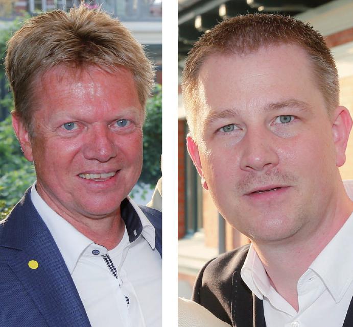 Thomas Hinsch (Haspa) und Christian Dunger (WDI Media)