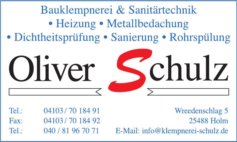 Oliver Schulz Bauklempnerei & Sanitärtechnik