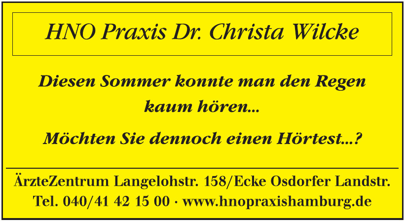 HNO Praxis Dr. Christa Wilcke