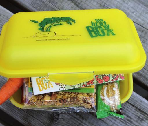 Eine Bio-Brotbox, wie sie im September verteilt wird