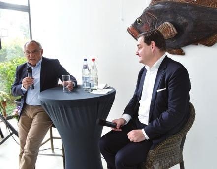 Felix Magath mit Marcus Weinberg im Ravenborg