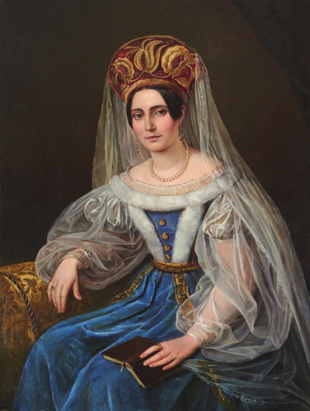 """""""Therese von Bacheracht"""", unbekannter Künstler, um 1840 FOTO: SHMH, ELKE SCHNEIDER"""