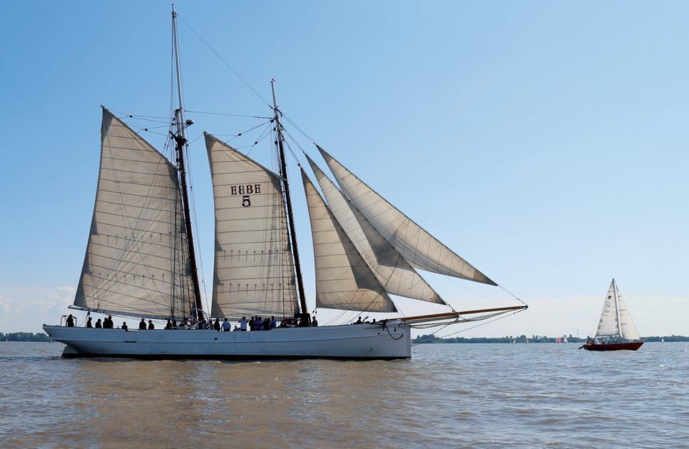Der Lotsenschoner No. 5 Elbe ist regelmäßig mit Gästen unterwegs FOTO: H. A. PRINZ REUSS