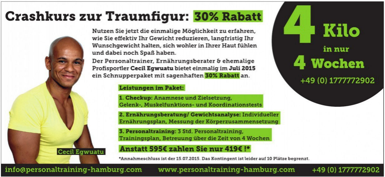 Personaltraining Hamburg