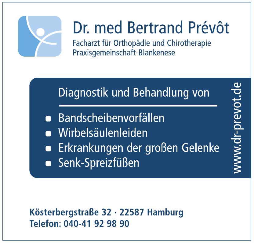 Dr. med. Bertrand Prévôt, Facharzt für Orthopädie und Chirotherapie