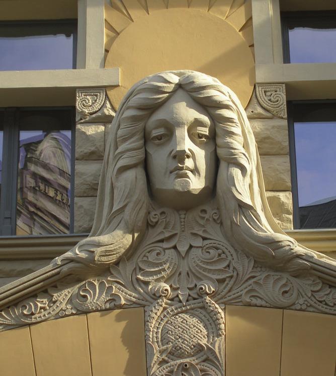 Jugendstilgebäude in Riga, Lettland