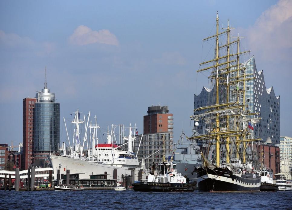 Hamburgs maritimes Erbe wird im Rahmen des Hafengeburtstages besonders deutlich.F MAACK OTO: HAMBURG MESSE /NICO