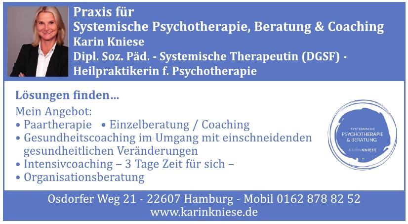 Karin Kniese, Praxis für systemische Psychotherapie, Beratung und Coaching