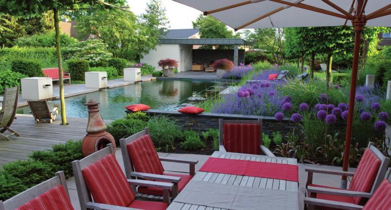 Blick in den Schaugarten von Gartenexperte Bahl