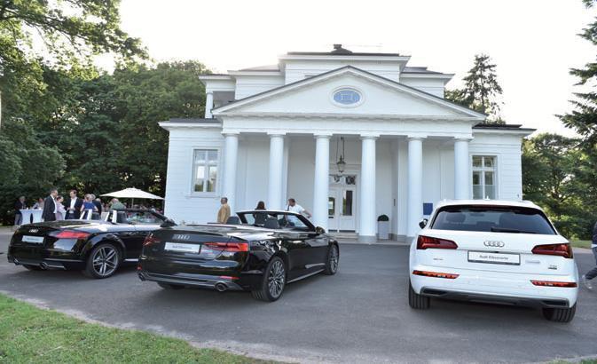 Sponsor Audi präsentierte neue Modelle vor dem Gosslerhaus