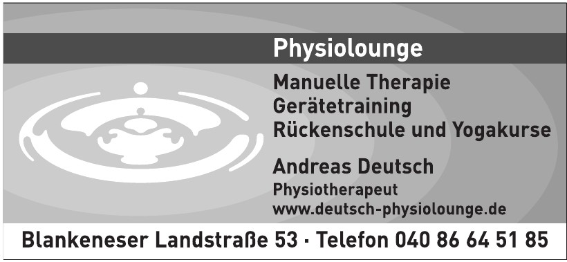 Andreas Deutsch Physiotherapeut
