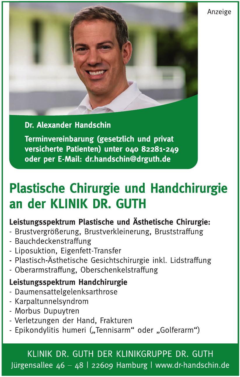 Klinik Dr. Guth, Dr. Alexander Handschin