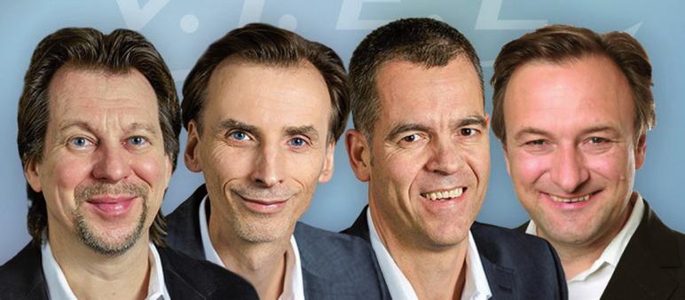 Tom Rückerl, Jörn Ehrlich, Jens Hartung und Eckart Fiolka