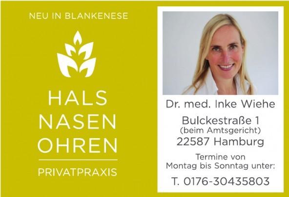 Hals Nasen Ohren - Privatpraxis, Dr. med. Inke Wiehe