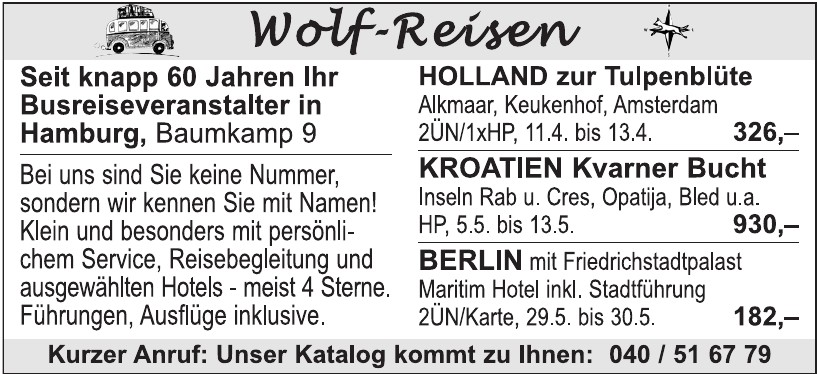 Wolf-Reisen
