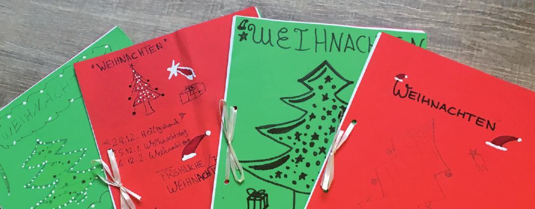 Selbst gestaltete Weihnachtsbücher