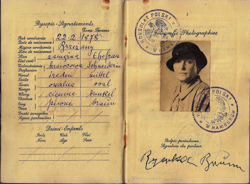 Der Pass von Ryfka Brunn, eine von Hunderten Ausgewiesenen FOTO: SAMMLUNG NEIL KAPLAN